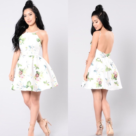 stable quality durable service new items Fashion Nova Spring White Floral Dress size XS NWT